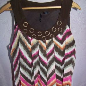 New Directions Layered Tank Top Sz M